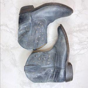 Miz Mooz Cozumel Western Cowgirl Blue Low Boots